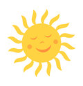 Cute Sun With Smile Stock Image - 97747191