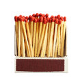 Box Of Matches Isolated On White Stock Photo - 97777450