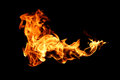 Fire Flames Isolated On Black Stock Photos - 97779703
