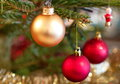Christmas Tree Decorations Close-up Stock Image - 97797751