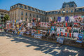 Posters Of Theatrical Plays Affixed To A Building Grid In The City Center Of Avignon. Stock Photos - 97854583