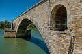 View Of The Arcs Of The Pont D`Avignon Bridge In Avignon. Stock Photo - 97855800