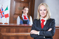 Hotel Reception Worker Royalty Free Stock Image - 97862776