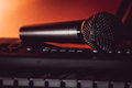 The Vocal Microphone Piano Keys Royalty Free Stock Images - 97874099