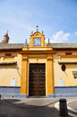 Historic Buildings And Monuments Of Seville, Spain. Spanish Architectural Styles Of Gothic. San Juan De La Palma. Royalty Free Stock Image - 97879706