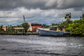 Abandoned Boat Tarpon Springs In Florida Stock Photography - 97880562