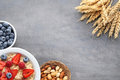 Oatmeal In Plate With Berries Royalty Free Stock Image - 97895336
