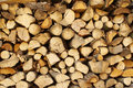 Chopped Wood, Stacked In A Woodpile. Stock Photos - 97901703