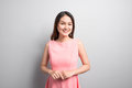 Picture Of Beautiful Woman Beautiful Woman In Pink Dress Stock Image - 97951881