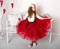 Adorable Smiling Little Girl Child In Princess Dress Royalty Free Stock Photography - 97960557