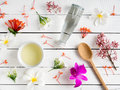 Natural Skincare Products,aroma Oil With Tropical Flower. Royalty Free Stock Photos - 97969168