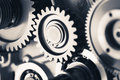 Engine Gear Wheels, Industrial Background Royalty Free Stock Photo - 97969175