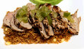 Pork Tenderloin With Green Peppers And Quinoa Royalty Free Stock Images - 97969599