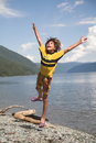 Boy Jumps Royalty Free Stock Photography - 984747