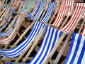 Deckchairs Royalty Free Stock Photography - 9808777