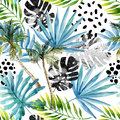Hand Drawn Abstract Tropical Summer Background Royalty Free Stock Photography - 98005827