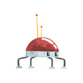 Cute Cartoon Robot Spider Character Vector Illustration Royalty Free Stock Photography - 98021967