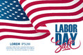 Labor Day Sale Special Offer Banner Template With Waving American National Flag. Royalty Free Stock Photography - 98022427