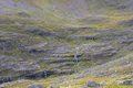 Water Stream Tumbling Down Over Cliffs In Scottish Highlands Stock Photo - 98043720