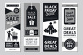 Black Friday Sale Card Sets Royalty Free Stock Photography - 98056317