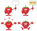 Strawberry Fruit Cartoon Mascot Character Series Set 5. Collection Royalty Free Stock Image - 98057486