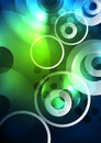 Glowing Circles In The Dark Stock Photography - 98068492