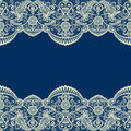 Beige Lace Border On Blue Royalty Free Stock Image - 98071896