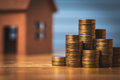 Saving Money To Buy A New Home Of Its Own Money In The Piggy Bank. Lowest Cost And Tax. Royalty Free Stock Photos - 98080908