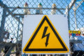 Safety Symbol: Caution, Risk Of Electric Shock Royalty Free Stock Photography - 98082967