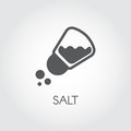 Salt Shaker Seasoning Icon In Flat Design. Pictogram For Food Cooking Theme. Simple Emblem Of Spice. Vector Illustration Stock Photo - 98084390