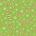 Christmas Vector Seamless Pattern With Candy Canes And Snowflakes Stock Photos - 98090583