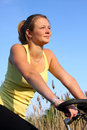 Girl On A  Bike Royalty Free Stock Photography - 9810897
