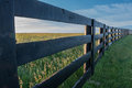 Angle View Of Horse Farm Fence Royalty Free Stock Photos - 98114128