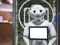 KYOTO, JAPAN - APR 14, 2017 : Pepper Robot Assistant With Inform Stock Photography - 98137482