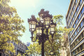 Tipycal Street Light Sited In Barcelona Stock Photo - 98169530