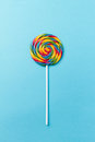 Tasty Appetizing Party Accessory Sweet Swirl Candy Lollypop On B Royalty Free Stock Photos - 98182078