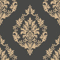 Vector Damask Seamless Pattern Element. Classical Luxury Old Fashioned Damask Ornament, Royal Victorian Seamless Texture Stock Images - 98198874