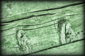 Old Weathered Cracked Knotted Kelly Green Pine Wood Floorboards Vignetted Grunge Texture Royalty Free Stock Image - 98205796