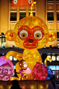 The Chinese New Year Of Monkey Set Up In Front Of The Luxury Shopping Mall In Beijing Stock Images - 98206174