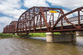 Beautiful Old Iron Bridge On Old Route 66 Stock Images - 98217124