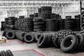 New Tires For Sale At A Tire Store Royalty Free Stock Images - 98220419