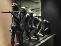 Human Evolution Copper Sculpture Royalty Free Stock Image - 98230746