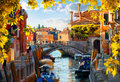 Motorboats In Venice Autumn Stock Images - 98308464