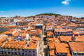 10 July 2017 - Lisbon, Portugal. Lisbon Panoramic View In The Beautiful Sunset. Portugal Stock Photos - 98312833