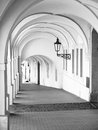 Old Historical Arcade In Loretanska Street Near Prague Castle, Prague, Czech Republic Royalty Free Stock Images - 98321779
