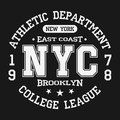 Vintage Badge, Athletic Sport Typography For T Shirt Print. Varsity Style. T-shirt Graphic Stock Image - 98323961