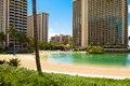 Hawaii Oahu Honululu Waikiki Beach One Of The Most Desirable Tourist Destinations In The World Royalty Free Stock Image - 98330506