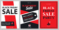 Black Friday Sale Card Sets Royalty Free Stock Photography - 98336097