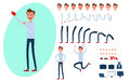 Young Man Character Creation Set For Animation  Stock Photography - 98337952