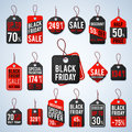 Black Friday Pricing Tags And Promotion Labels With Cheap Prices And Best Offers. Retail Vector Sign Stock Photo - 98345490